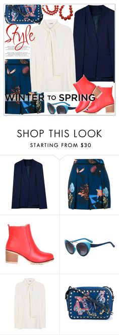 """""""Winter to Spring Layers"""" by teoecar ❤ liked on Polyvore featuring Proenza Schouler, Miu Miu, Valentino, Raymond C. Yard and Wintertospring"""
