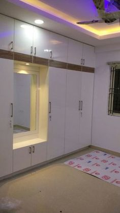 Wardrobe designs from modern style bedroom by modern plywood Pooja Room Door Design, Bedroom Door Design, Bedroom False Ceiling Design, Bedroom Cupboard Designs, Bedroom Furniture Design, Home Room Design, Modern Bedroom Design, Bedroom Designs, Wardrobe Interior Design