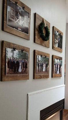 If you are looking for Diy Pallet Wall Art Ideas, You come to the right place. Here are the Diy Pallet Wall Art Ideas. This article about Diy Pallet Wall Art Ide. Decoration Photo, Decoration Pictures, Wall Decor With Pictures, Diy Picture Frames On The Wall, Rustic Picture Frames, Pallet Picture Display, Hang Pictures, Ideas For Hanging Pictures, Shelves For Pictures