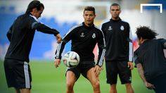 Mydialect tv Ronaldo & Bale showboat in training