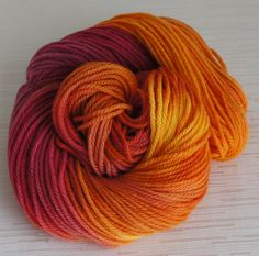 Hand Painted Yarn, Hand Dyed Pure Wool 160 yards, Worsted Weight on Etsy, $16.99