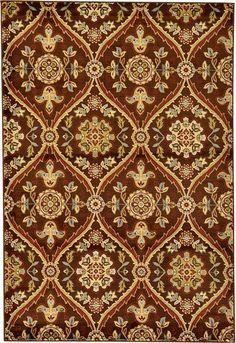 Brown x Damask Rug Damask Curtains, Damask Rug, Curtain Patterns, Textile Patterns, Print Patterns, Decoupage, Art Deco Pattern, Pattern Design, Modern Carpet