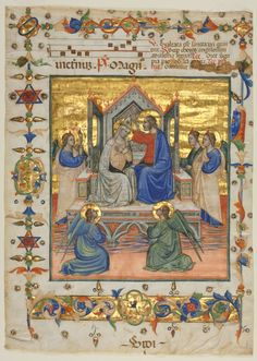 Leaf Excised from an Antiphonary: Coronation of the Virgin