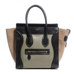 Céline Micro Luggage Tote Tricolor