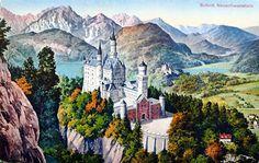 Munich et la Bavière, Louis II et Richard Wagner: Neuschwanstein vintage Impératrice Sissi, Richard Wagner, Prince, Neuschwanstein Castle, Ludwig, 7 Year Olds, Bavaria, Munich, Joseph