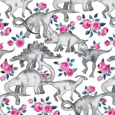 Dinosaurs and Roses &; white Art Print by micklyn Dinosaurs and Roses &; white Art Print by micklyn Xy Xy Hintergründe Dinosaurs and Roses &; Cute Wallpapers, Wallpaper Backgrounds, Iphone Wallpaper, Phone Backgrounds, Wallpaper Kawaii, Dinosaur Background, Dinosaur Wallpaper, Wallpaper Fofos, White Art