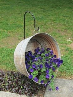 "This is what I am going to put in the ""Back in the day"" flower bed along with the old Metal wagon wheel and old metal milk can spilling ""milk"" but I think I will put pansies in it or some flowers that are good in shade/part sun in evenings."