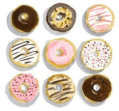 something sweet by caitlin mcgauley #donuts #illustration