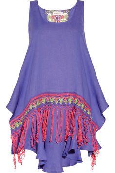Emamó|Messico embellished linen mini dress|NET-A-PORTER.COM