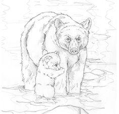 Bergsma Gallery Press::Paintings::Originals::Original Sketches::2008/ This Bears My Love For You - Original Sketch