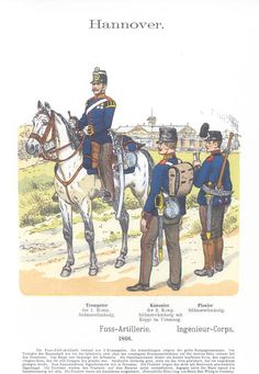 Band XII #53.- Hannover. Fuß-Artillerie 1866. Ingenieur-Corps.