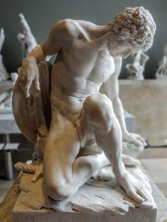 """statuemania: """" Dying gladiator / Gladiateur mourant by Pierre Julien, Marbre, 1779, Musée du Louvre, Paris (Photo by y.caradec) """""""