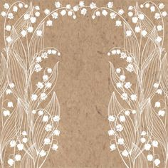 fashion background Floral background with lily of the valley and place for text. Vector illustration on a kraft paper. Invitation, greeting card or an element for your design. Fleurs Art Nouveau, Vintage Style Tattoos, Valley Flowers, Illustration Blume, Zentangle Drawings, Zen Doodle, Mural Painting, Flower Backgrounds, Pottery Painting