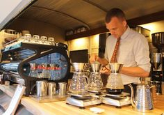 High Line Hotel | Intelligentsia Coffee coffee truck interior, nyc #coffeetruck