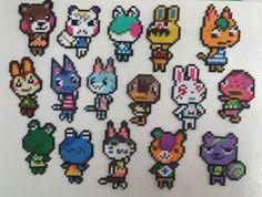 Animal Crossing Perler Bead Magnets by MamasCraftscradke