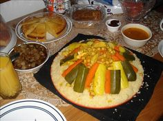Moroccan Ramadan Couscous With Meat and Veggies. Photo by Dasha