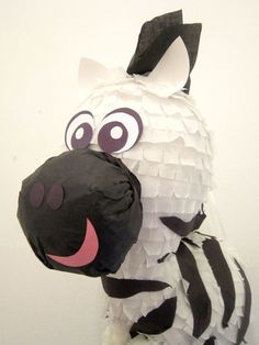 MOVING Custom Boy Zebra Pinata Handmade Stripes by PinataMama, $70.00