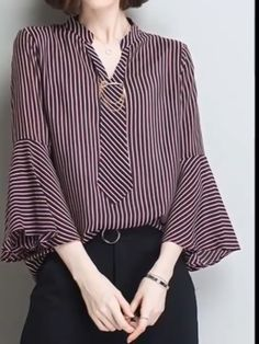 Spread the love Chic Shirts Blouses from 46 of the Top Shirts Blouses collection is the most trending fashion Blouse And Skirt, Blouse Dress, Blouse Batik, Blouse Styles, Blouse Designs, Hijab Fashion, Fashion Dresses, Hijab Stile, Mode Inspiration