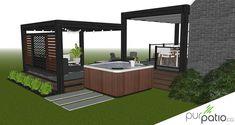 Custom design of a contemporary style outdoor living area that … - Home & DIY Outdoor Fencing, Patio Fence, Patio Roof, Patio Plans, Pergola Plans, Pergola Ideas, Pergola Shade, Deck With Pergola, Modern Patio Design