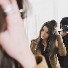 Eleanor Calder (and if I'm not mistaken, that's her best friend Max Hurd, who also models, behind that camera lense)