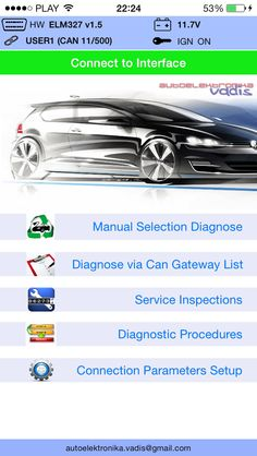Diagnostic tool via wifi to VAG Group cars