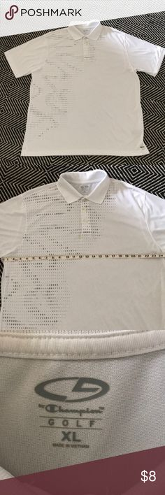 2 Men's Shirt Bundle Very sharp light-weight shirt for summer: golf, tennis, the club. Worn Silky smooth white polyester with grey diamond pattern on front. Size XL Chicago Cub's World Champion T-shirt New w/tags. S Shirt, Golf Shirts, Diamond Pattern, Fashion Tips, Fashion Design, Fashion Trends, Champion, Man Shop, Men