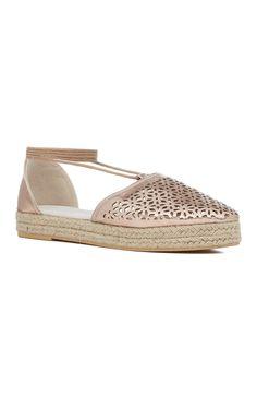 e54be18503d89 Bronze Ankle Laced Espadrilles