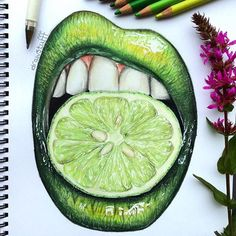 WANT A FREE FEATURE ?   CLICK LINK IN MY PROFILE !!!    Tag  #LADYTEREZIE   Repost from @idrawstufff   Green lips This took a long time but I actually quite like it  Reference from @vladamua  Comment what you think?  - Also yes Ik it's the same as @creativexstarz me and Es are friends and we used the same reference pic a lot of people have drawn using this reference via http://instagram.com/ladyterezie