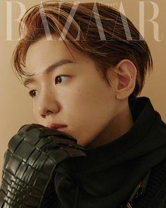 Baekhyun Chanyeol, K Pop, Luhan And Kris, Kpop Exo, Chanbaek, Harpers Bazaar, Asian Men, Cover Photos, Burberry