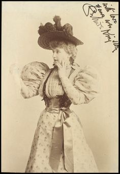 Photograph of Gertrude Kingston as Mrs Darcy in The Passport, Terry's Theatre.
