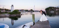 beautiful Waterfront sunset kiss #wedding #kennebunkport  - LAD Photography www.VisitMaine.net