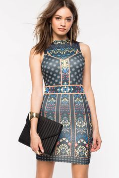 Jealousy Printed Bodycon Dress