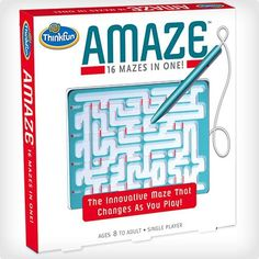 ThinkFun Amaze - A hand-held maze that changes as you play. Maze Games For Kids, Puzzles For Kids, Maze Puzzles, Logic Games, Silly Me, Thing 1, Kids Class, Kids Board, Swim Lessons