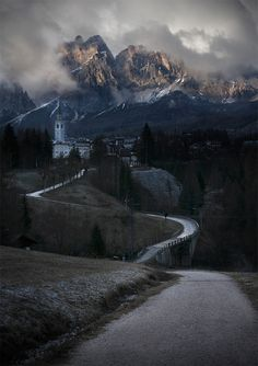 Mountain Village, The Dolomites, Italy,