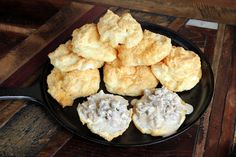 Sausage Gravy and Almond Flour Biscuits