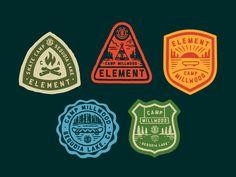 Element Skate Camp Patches - via @designhuntapp Typography Logo, Logo Branding, Lettering, Restaurant Branding, Logo Sticker, Sticker Design, Vector Logos, Badges, Camp Logo