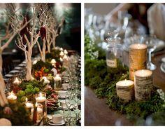 Sweet Violet Bride - http://sweetvioletbride.com/2013/12/whimsical-woodland-centerpiece-ideas/