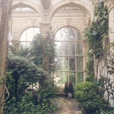 The Orangery at Castle Ashby Gardens, Northampton, England, UK Salate Im Winter, Slytherin Aesthetic, Nature Aesthetic, Beautiful Architecture, Ancient Architecture, Interior Exterior, Interior Design, Abandoned Places, Abandoned Castles