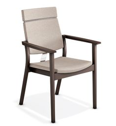 SINA Sedia con braccioli by Casala design Kressel Schelle design Outdoor Chairs, Dining Chairs, Outdoor Furniture, Outdoor Decor, Sofa Chair, Upholstered Chairs, Stackable Chairs, Chair Design, Accent Chairs