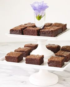 Fudgy Brownies - Doesn't everyone love a brownie? And Martha likes hers fudgy rather than cakey.