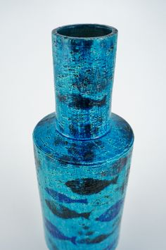 Aldo Londi pesce vase, Rimini Blu series, fish ceramic vase for ...