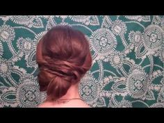 Since you have shorter hair I would make the bun part into a pony tail, curl the pony tail, and then pin it up to form a kind of curly/voluminous bun. I would keep the rest of the hairstyle the same.
