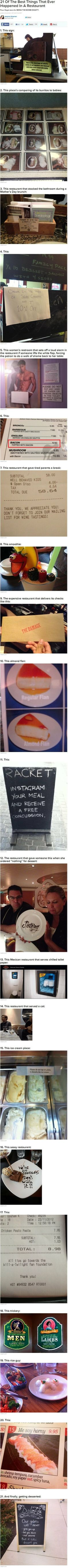 21 funny things that happened in restaurants
