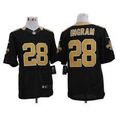 Nike Mark Ingram Jersey Elite Team Color Black New Orleans Saints #28