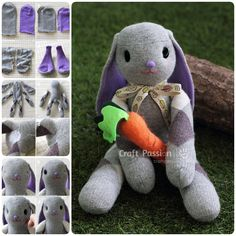 how to make a sock bunny Diy Sock Toys, Sock Crafts, Sock Bunny, Bunny Rabbit, Lop Eared Bunny, Sock Dolls, Rag Dolls, Easy Easter Crafts, Sock Animals