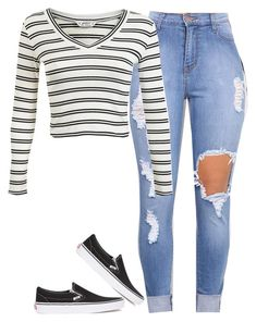 """Untitled #133"" by outfits2dope ❤ liked on Polyvore featuring Miss Selfridge and Vans"