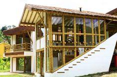 Unique Shape Bamboo Architecture With Glass Windows Design Making bamboo building house construction Home design Backyard Garden Landscape, Small Backyard Gardens, Modern Backyard, Gravel Garden, Large Backyard, Garden Path, Water Garden, Herb Garden, Filipino Architecture