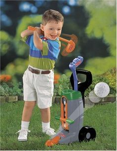 Fisher-Price Grow-to-Pro Golf Set - Golf training center with continuous feed mechanism that dispenses a ball each time the child presses the lever.This complete Golf Training Center lets kids get hit after hit!