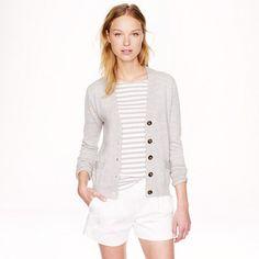 Grey Cardi for Fall 2014. Merino wool V-neck cardigan - Cardigans - Women's sweaters - J.Crew