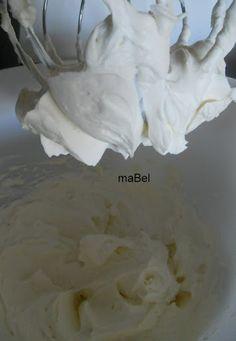 Frosting de queso y nata (crema de leche) ~ Pasteles de colores Buttercream Frosting, Icing, Mousse, Colorful Desserts, Salsa Dulce, Cooking Tips, Creme, Recipies, Ice Cream